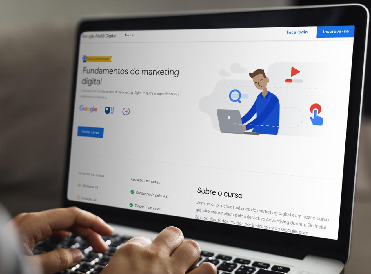 curso de marketing digital do Google